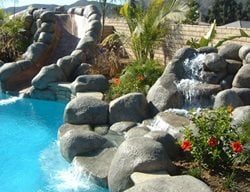 Waterfall, Pond, Slide, Pool Water Features G & G Custom Concrete / Armor Prep Coatings Finksburg, MD