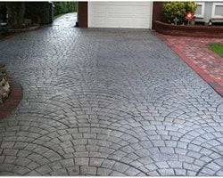 Charcoal, Silver Concrete Patios Starburst Concrete Design Brewster, NY