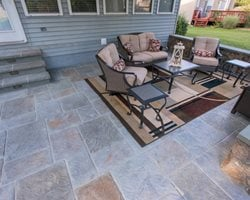 Multicolor Stamped Concrete, Walls Concrete Patios Salzano Custom Concrete Aldie, VA