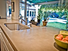 Light Tan Concrete Countertop, Undermount Stainless Steel Sink Concrete  Countertops Flying Turtle Cast Concrete Modesto
