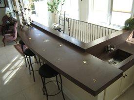 Purple, Ligths Concrete Countertops Concrete Elegance, Inc. Vaughan, ON