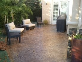 stained concrete outdoor patio