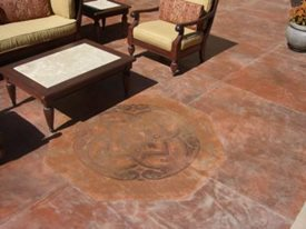 Terra Cotta, Design Concrete Patios Michael Rogers Studios Salem, OR