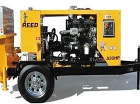 Concrete Trailer, Concrete Trailer Pump, Concrete Pump Site Reed Concrete Pumps Chino, CA