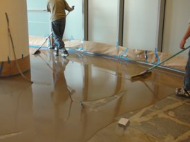 Tape Off, Overlay Application Site Madstone LLC Barrington, RI