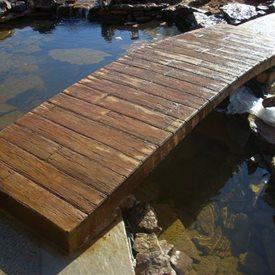 Garden Bridge, Wood Stamp Stamped Concrete Baltz and Sons Concrete Services Somerville, TN