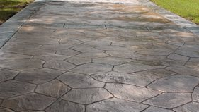how to stamp concrete concrete driveways decorative concrete institute temple ga - Concrete Driveway Design Ideas