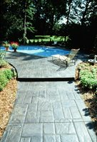 Stamped Concrete Nick Paris Davis Colors Los Angeles, CA
