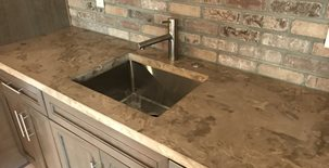 Brown Countertop, Mottled Countertop Concrete Countertops form2table Coraopolis, PA