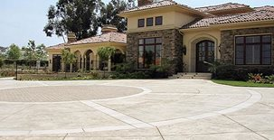 Stamped, Circle Concrete Driveways Epik Masonry & Concrete Inc. Ventura, CA