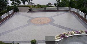 Belgian Block, Compass Design Concrete Pool Decks Beyond Concrete Keyport, NJ