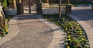 Stamped Walkway, Stamped Concrete Concrete Walkways JGL Indio, CA