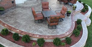 Stamped Patio, Faux Stone Site Biondo Cement Co Inc Shelby Charter Township, MI