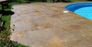 Decorative Resurfacing, Pool Deck Coating Concrete Pool Decks F. Mancuso & Sons Châteauguay, QC