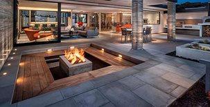 Patio And Fire Feature Concrete Pool Decks DC Custom Concrete San Diego, CA