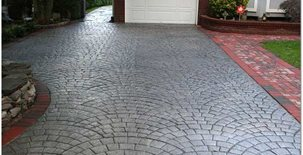 Charcoal, Silver Concrete Patios Starburst Concrete Design Brewster, NY