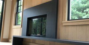 Black Concrete, Fireplace Cladding Fireplace Surrounds Premier Casting Solutions Holbrook, NY