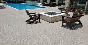 Pool Deck Coating, Textured Pool Deck Concrete Pool Decks Sundek of Houston Katy, TX
