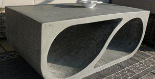 Coffee Table, Concrete Table Concrete Patios element east studio Montauk, NY