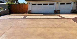 Colored Driveway, Custom Driveway, Decorative Driveway Concrete Patios KB Concrete Staining Norco, CA