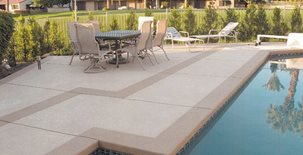 Pool Deck, Concrete Coating Concrete Pool Decks Cooper Coatings Inc. Cathedral City, CA