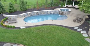Exposed Aggregate, Swimming Pool Concrete Entryways TowneScapes  LLC Batavia, OH