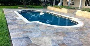Hand Carved Overlay Concrete Pool Decks Decorative Concrete Masters Schertz, TX