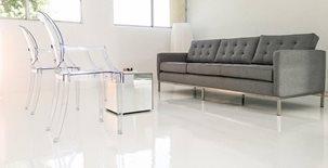 White Epoxy Concrete Floors Modern Concrete Floors Tempe, AZ