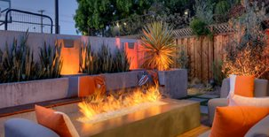 Fire Pit, Trough Design Concrete Pool Decks Conscapes San Carlos, CA