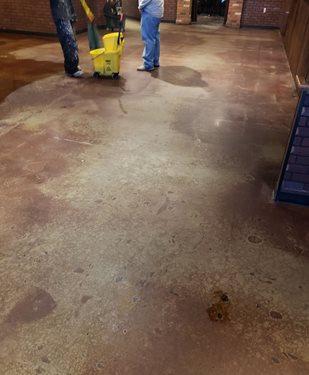 Restaurant during clean
