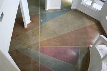 Polished Concrete Floor Artistic Surfaces Inc on Carpet Dye Before And After