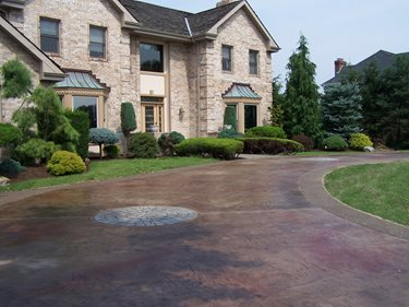 Circle, Coffee Concrete Driveways Custom DesignCrete, Inc Crescent, PA