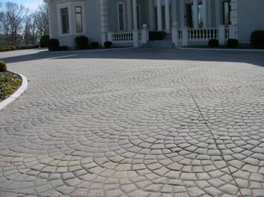 Entrance Concrete Driveways Best Stamped Concrete Inc. Huntsville, AL