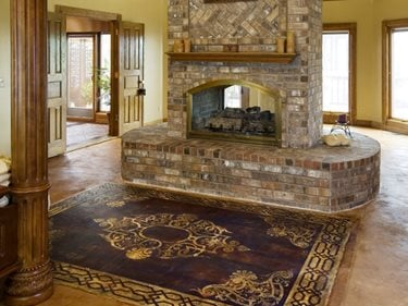 Stenciled Concrete Floor Rug Concrete Floors Art Over Concrete Murfreesboro, TN