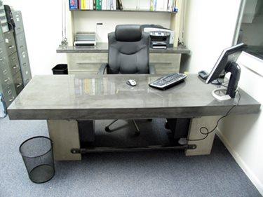 Concrete Desk Concrete Furniture JM Lifestyles Randolph, NJ