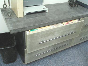 Concrete Filing Cabinet Concrete Furniture JM Lifestyles Randolph, NJ