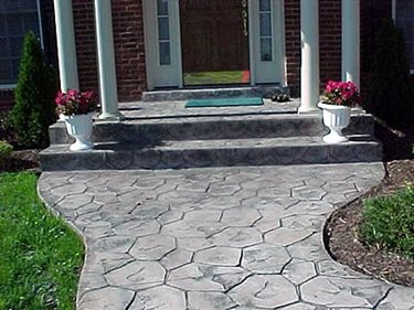 Entrance, Stone, Walkway Concrete Walkways Deco-Systems of MD Inc Germantown, MD