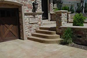 Exterior Decorative Installations Concrete Walkways ConcreteNetwork.com ,