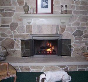 Fireplace, Vertical Concrete Walkways Custom DesignCrete, Inc Crescent, PA