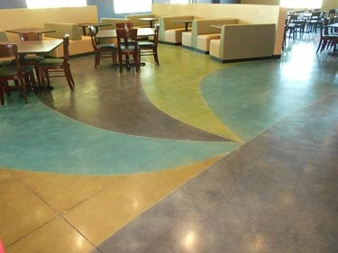 Mulitcolored Floor Concrete Walkways Scofield Systems ,