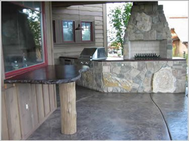 Concrete Walkways Riverstone Stamped Concrete Spokane, Washington