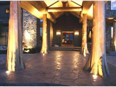 Stamped Concrete, Natural Stone Stamped Concrete Concrete Walkways Riverstone Stamped Concrete Spokane, Washington