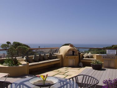 Tan, Dome Fireplace Outdoor Kitchens Tom Ralston Concrete Santa Cruz, CA