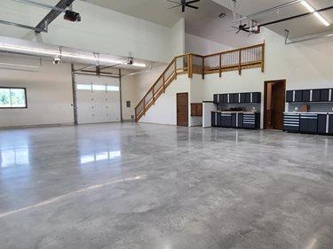 Gray Polished Concrete, Shop Floor Polished Concrete Floriartisan LLC Spokane Valley, WA