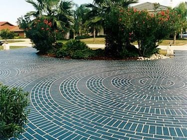 concrete circle pad