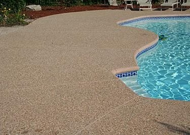 Exposed Aggregate Pool Decks Using Decorative Aggregate