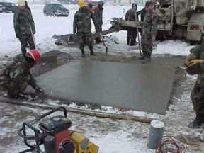 Cold weather concrete placement how to protect and cure for Best weather to pour concrete