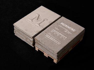 Concrete, Business Cards Site Murmure Caen,
