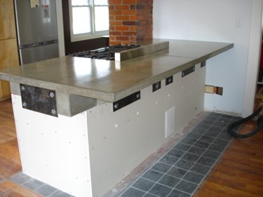 Concrete Countertop Site Atlas Archimedes Design Prairie Village, KS