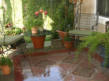 Concrete Patio, Rug Site Faux Villa Decorative Finishes Studio ,